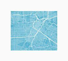 Houston Map - Baby Blue Unisex T-Shirt
