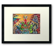 Ancient Aztec Gods of the Underworld Mictlan Framed Print