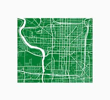 Indianapolis Map - Green Unisex T-Shirt