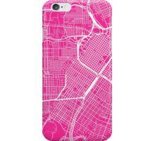 Houston Map - Hot Pink iPhone Case/Skin