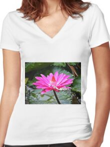A safe port of call Women's Fitted V-Neck T-Shirt
