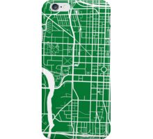 Indianapolis Map - Green iPhone Case/Skin