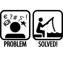 Fishing: Problem Solved Photographic Print