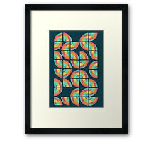 An abstract topography Framed Print