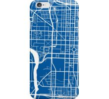 Indianapolis Map - Deep Blue iPhone Case/Skin