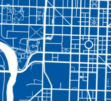 Indianapolis Map - Deep Blue Sticker