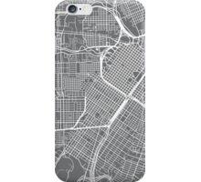 Houston Map - Grey iPhone Case/Skin