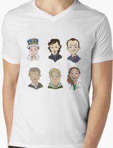 Sherlock Holmes cast Mens V-Neck T-Shirt