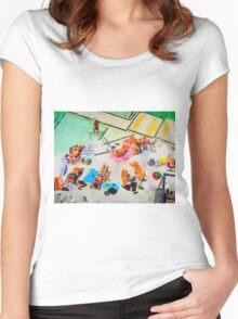 Bondi Icebergs Pool Women's Fitted Scoop T-Shirt