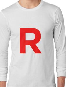 Team Rocket Pokemon Logo Long Sleeve T-Shirt