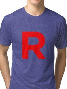 Team Rocket Pokemon Logo Tri-blend T-Shirt