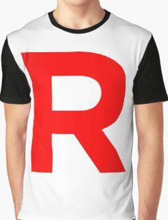 Team Rocket Pokemon Logo Graphic T-Shirt