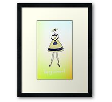 Illustration of a girl Framed Print