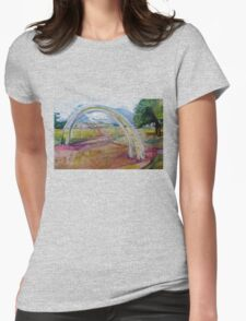Gentle Impression of an arch in a Landscape  Womens Fitted T-Shirt