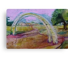 Gentle Impression of an arch in a Landscape  Canvas Print