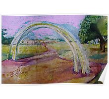 Gentle Impression of an arch in a Landscape  Poster