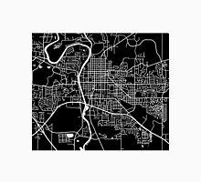Iowa City Map - Black Unisex T-Shirt