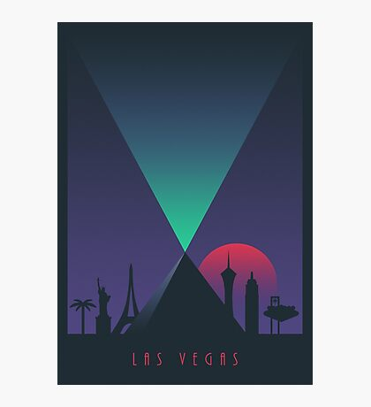 Las Vegas (Border Dark) Photographic Print