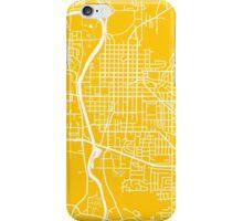 Iowa City Map - Yellow iPhone Case/Skin