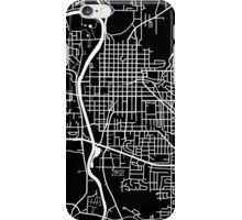 Iowa City Map - Black iPhone Case/Skin