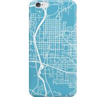 Iowa City Map - Baby Blue iPhone Case/Skin