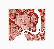Jacksonville Map - Dark Red Unisex T-Shirt