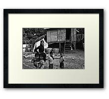 Home Living-Cambodia Framed Print