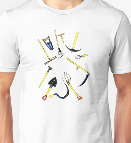 Garden Equipment Sketch Unisex T-Shirt