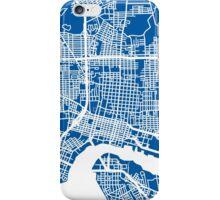 Jacksonville Map - Deep Blue iPhone Case/Skin