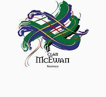 Clan McEwan - Prefer your gift on Black/White, let us know at info@tangledtartan.com Unisex T-Shirt