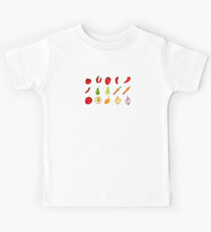 Fruits and Vegetables Art Kids Tee