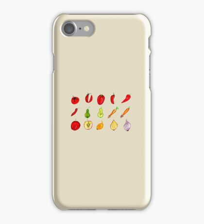Fruits and Vegetables Art iPhone Case/Skin