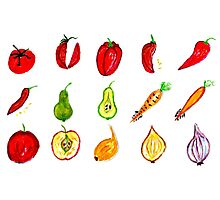 Fruits and Vegetables Art Photographic Print