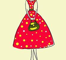 Illustration of a girl by OlgaBerlet