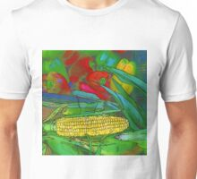 RainbowConfetti Farmers Market Corn on the Cob Unisex T-Shirt