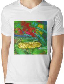 RainbowConfetti Farmers Market Corn on the Cob Mens V-Neck T-Shirt