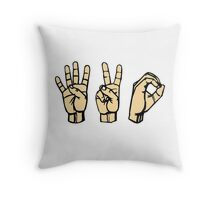 420 Hands Throw Pillow