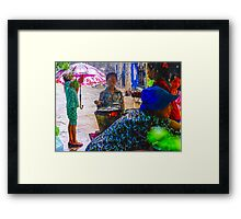 Monsoon Cooking Cambodia. Framed Print