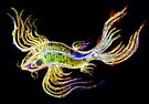 Neon Koi Fish by Linda Callaghan