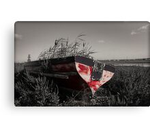 The old red boat Canvas Print