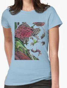 Pretty Floral Drawing  Womens Fitted T-Shirt