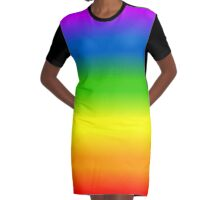 Die Chakran Farben Graphic T-Shirt Dress