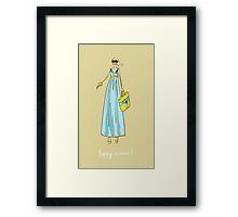 Illustration of a girl Framed Print