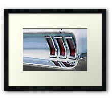Vintage Car Watercolor Framed Print