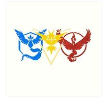 Pokemon Go Teams Art Print