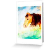 Horse Watercolor  Greeting Card