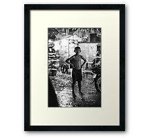 Monsoon Shower-Cambodia Framed Print