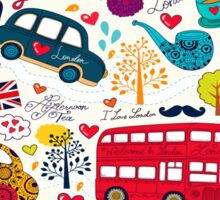 London Romantic A Sticker