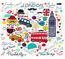 London Romantic A Photographic Print