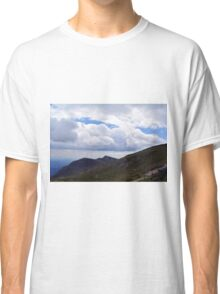 Beautiful natural scenery with mountains and cloudy sky. Classic T-Shirt